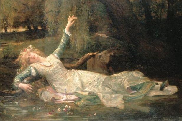 """""""Ofelia"""" (1883), de Alexandre Cabanel (1823-1889)"""