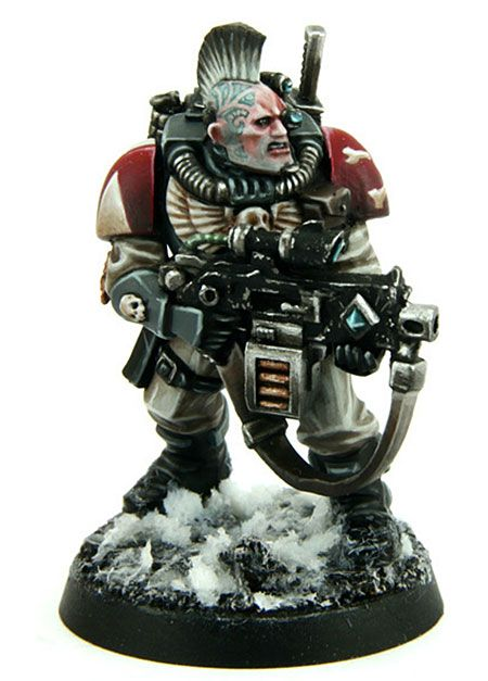 Very well painted Wolf Scout, Space Wolves, Warhammer 40k Miniatures.