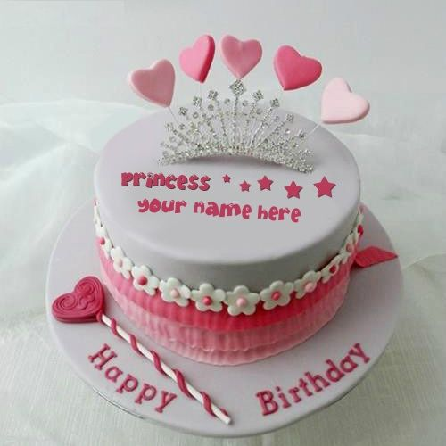 Write your own name with Birthday Cakes For Girls
