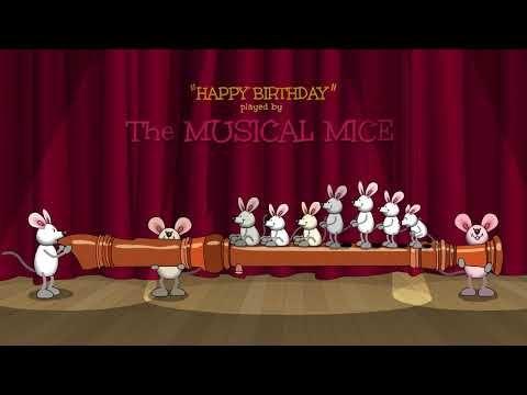 Alles Gute zum Geburtstag Lustige kostenlose E-Karten Musikalische animierte Postkarten Katzen tanzen auf einem Klavier LadybugEcards.com С Днем Рождения !!!