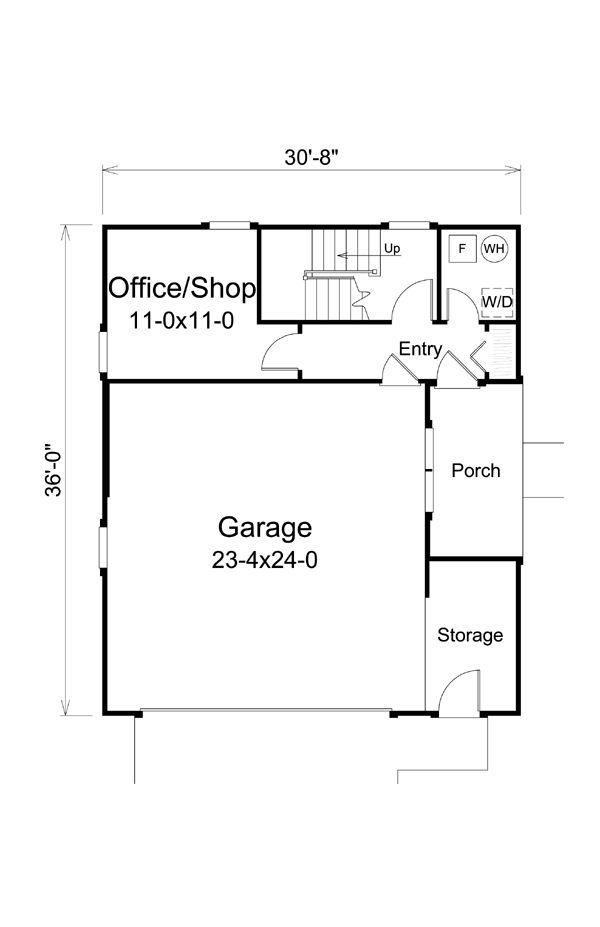 Southwest garage plan 95880 garage plans for 5 car garage plans