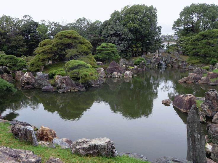 The Island of Eternal Happiness is a feature of the Ninomaru Garden at Nijo Castle in Kyoto, Japan.