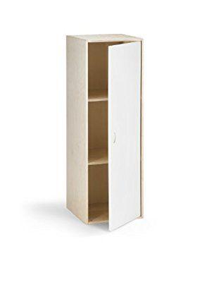 Traturio 99 1002 Hochschrank Holz, 123 X 41 X 41 Cm, Braun