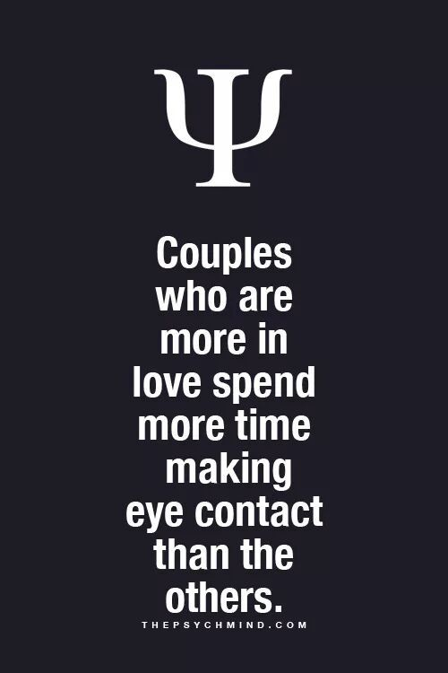 eye contact love psychology relationship