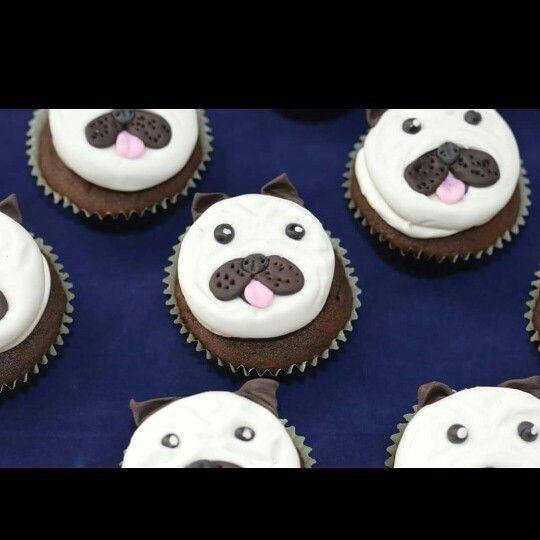 Pug cupcakes happy birthday Zoe #puglife #partycakefun