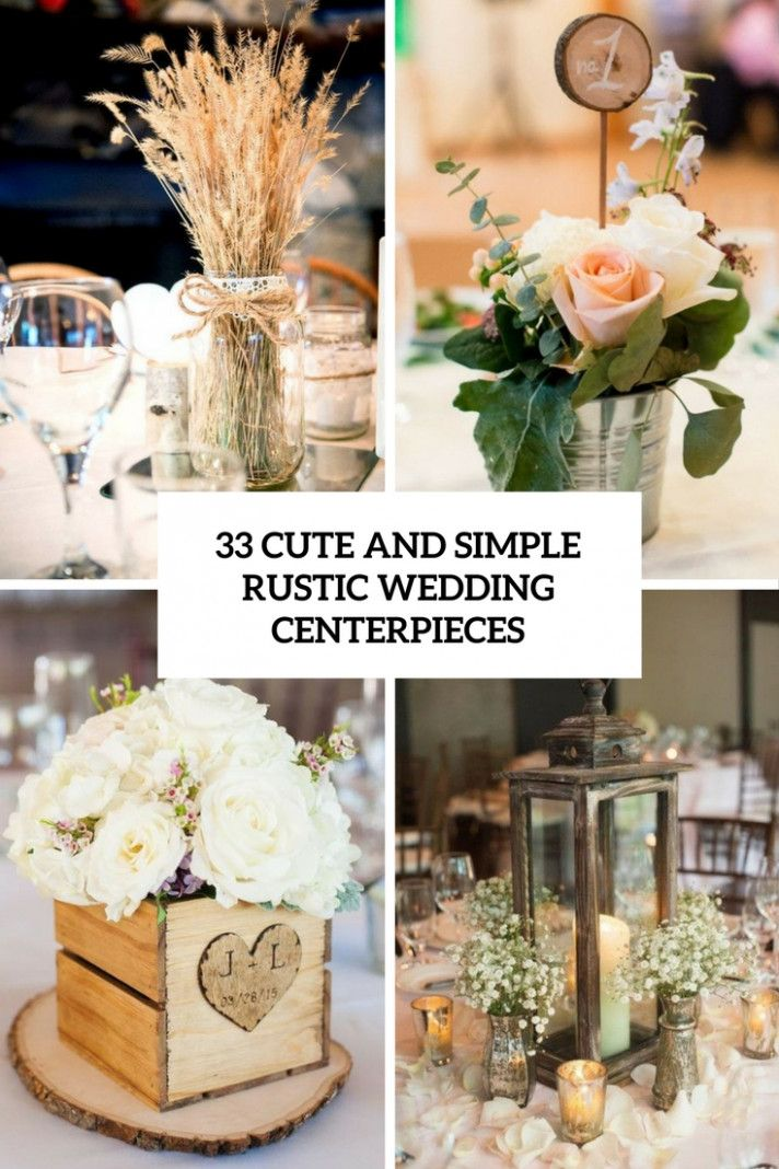 Rose Gold Wedding Rustic Simple Vintage Centerpiece Ideas For
