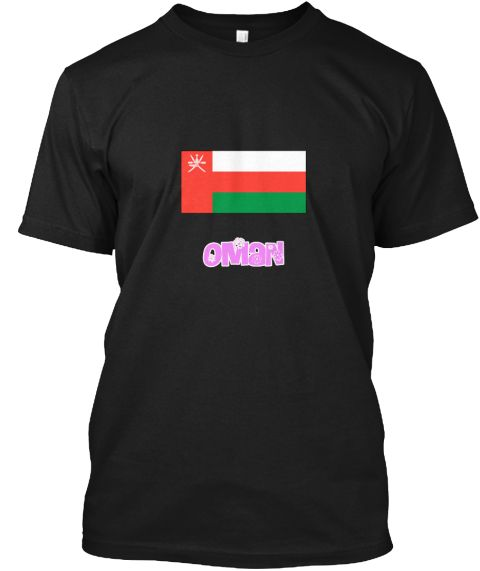 Oman Flag Pink Flower Design Black T-Shirt Front - This is the perfect gift for someone who loves Oman. Thank you for visiting my page (Related terms: I Heart Oman,Oman,Omani,Oman Travel,I Love My Country,Oman Flag, Oman Map,Oman Language, Oman Design #Oman, #Omanshirts...)