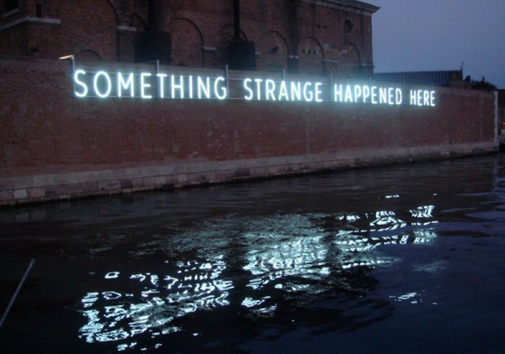 "Daniel Firman,  ""Something Strange Happened Here"" 2009 Neon View at the Venice Biennale - 2011 Courtesy Galerie Perrotin"