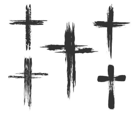 Brush painted cross icons by vectortatu on @creativemarket