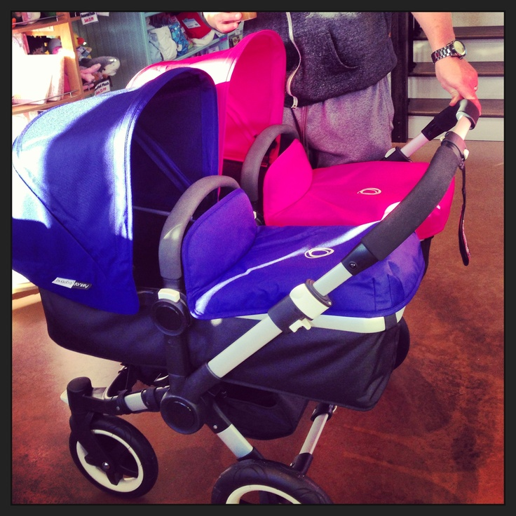 bugaboo donkey twin pink blue combo my pregnancy. Black Bedroom Furniture Sets. Home Design Ideas