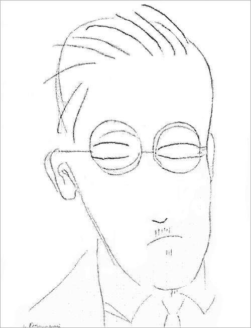 James Joyce,  by Constantin Brâncuși