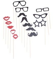Photo booth Props ONLY $12 Perfect for weddings 15pcs per pack. www.sweetlittlesoiree.com.au