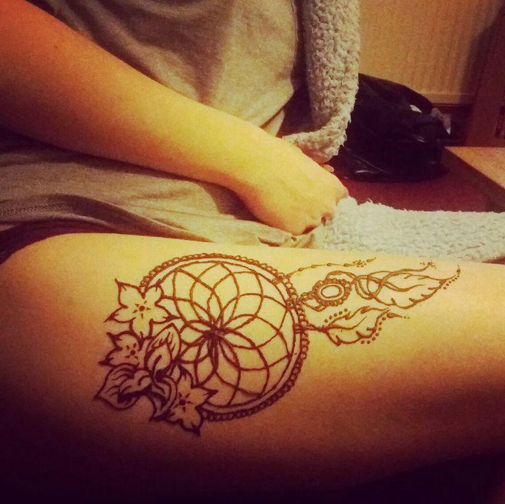 dream catcher leg henna tattoo tattoos pinterest leg henna hennas and tattoo. Black Bedroom Furniture Sets. Home Design Ideas