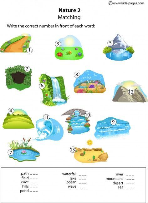 Nature Matching 2 worksheets