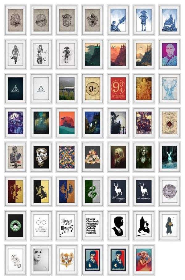 Simplistic Harry Potter Art Prints Sims 4 Downloads Sims 4 Sims Sims 4 Bedroom