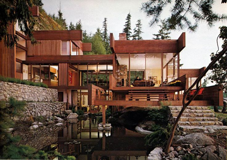 The Graham House, West Vancouver, Arthur Erickson and Geoffrey Massey, 1962