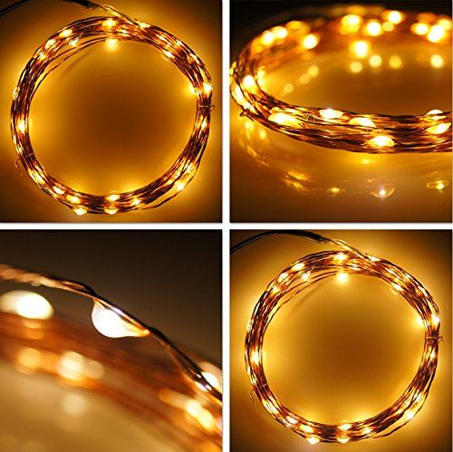 Ottertooth String Lights with Smart Remote, Dimmable Weatherproof 300 LEDs Starry String Lights,Copper Wire Lights Ambiance Lighting for Dancing, Christmas, Wedding, Party (99ft, Warm White)