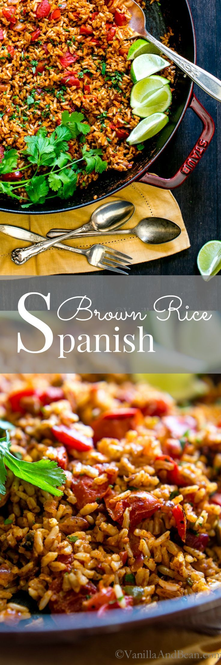 Paired with tacos.... a perfect meal! With a bit of meal prep, it's ready in no time flat! Packed with flavor, you're going to love this! Spanish Brown Rice | Vegetarian | Vegan | Recipe | Mexican Food
