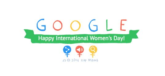International Women's Day 2014: Google makes 80 second video of inspirational women from across the world for animated Doodle