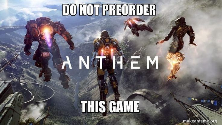 EA will be sure to crap all over this one #ea #anthem #gaming #preorder