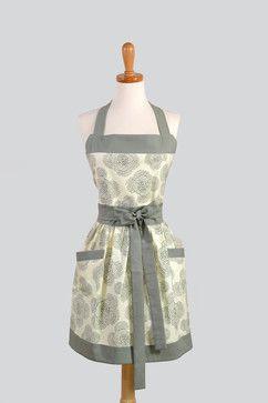 Womens Bib Apron, Elegant and Very Feminine by Creative Chics - modern - aprons - Etsy