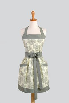 Womens Bib Apron, Elegant and Very Feminine by Creative Chics - modern - aprons - Etsy