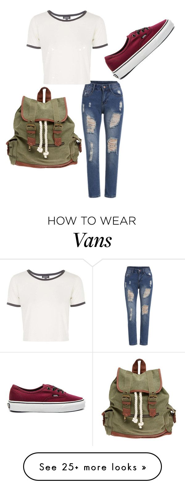 """""""super casual"""" by carlisleaubrey on Polyvore featuring Vans, Topshop and Wet Seal"""