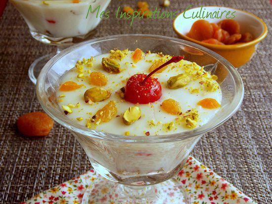 Mhalbi : creme dessert au riz pour ramadan