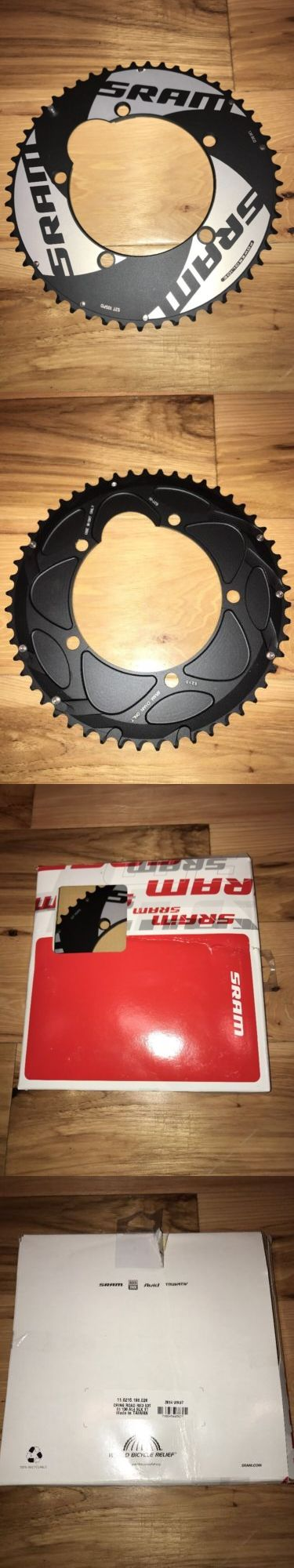 Chainrings and BMX Sprockets 177811: Sram Red Tt Time Trial 53T Chainring 10-Speed | 130Mm | Black And Silver |53-Tooth BUY IT NOW ONLY: $69.89