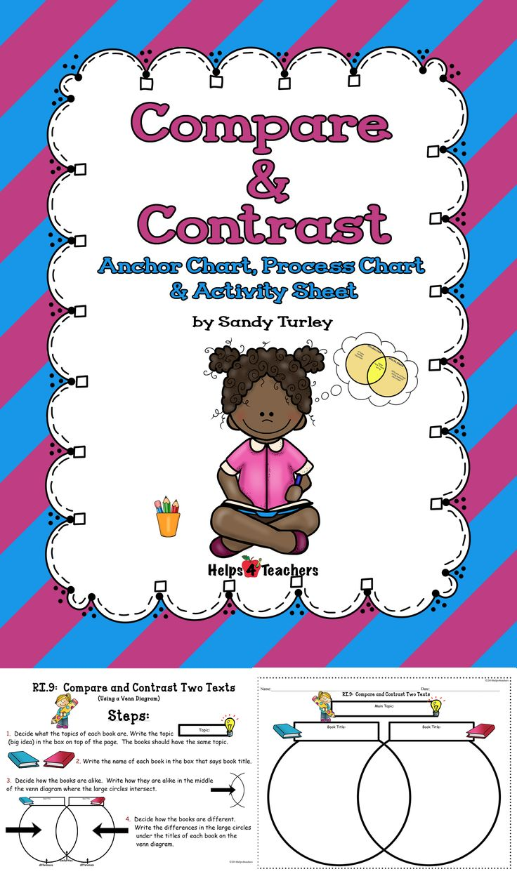 die besten compare and contrast chart ideen auf compare and contrast two texts anchor process charts
