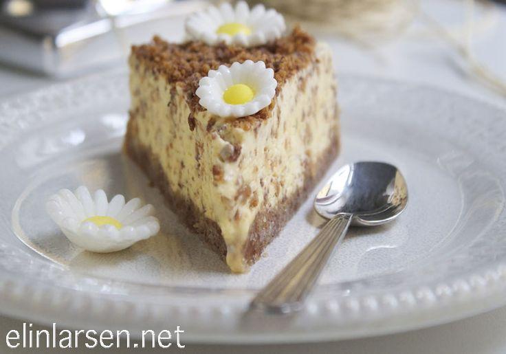 Homemade delicious daim ice cake