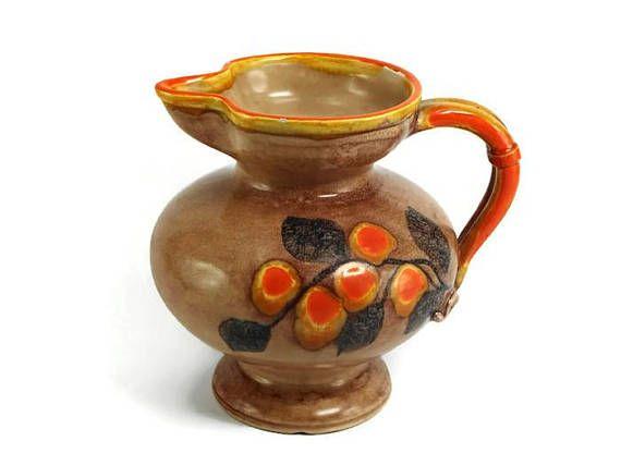 Keramik Milchkanne handbemalt Zeller Keramik Vase Kanne