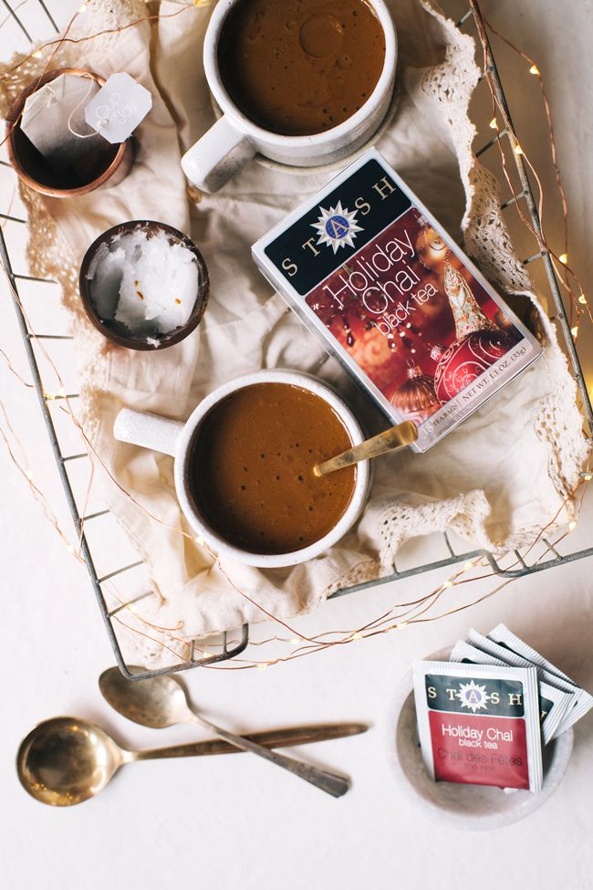 What do you get when you combine hot chocolate, golden milk, and chai tea? The coziest drink of winter - a Golden Chai Hot Chocolate!