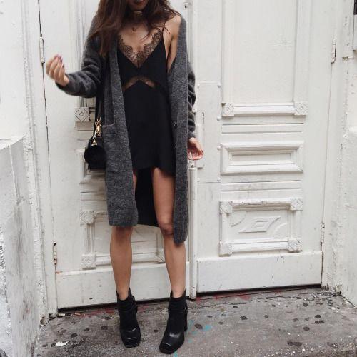 In love with slip dresses.