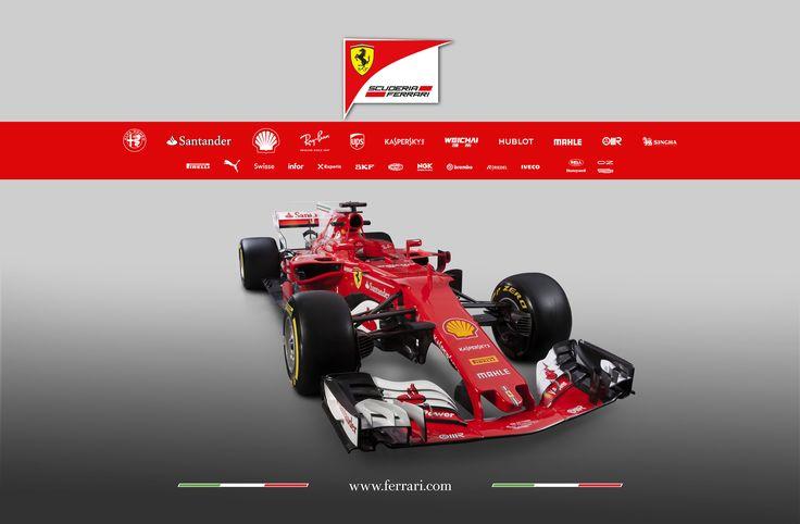 Ferrari presenta el monoplaza para la temporada 2017 de Fórmula 1. El SF70H se llama el nuevo coche de Sebastian Vettel y Kimi Raikkonen