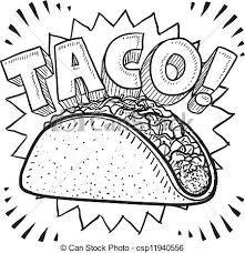 taco clipart - inspired my boyfriends birthday card :)