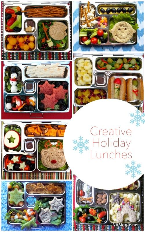 Creative Holiday Lunch ideas for kids | NoBiggie.net