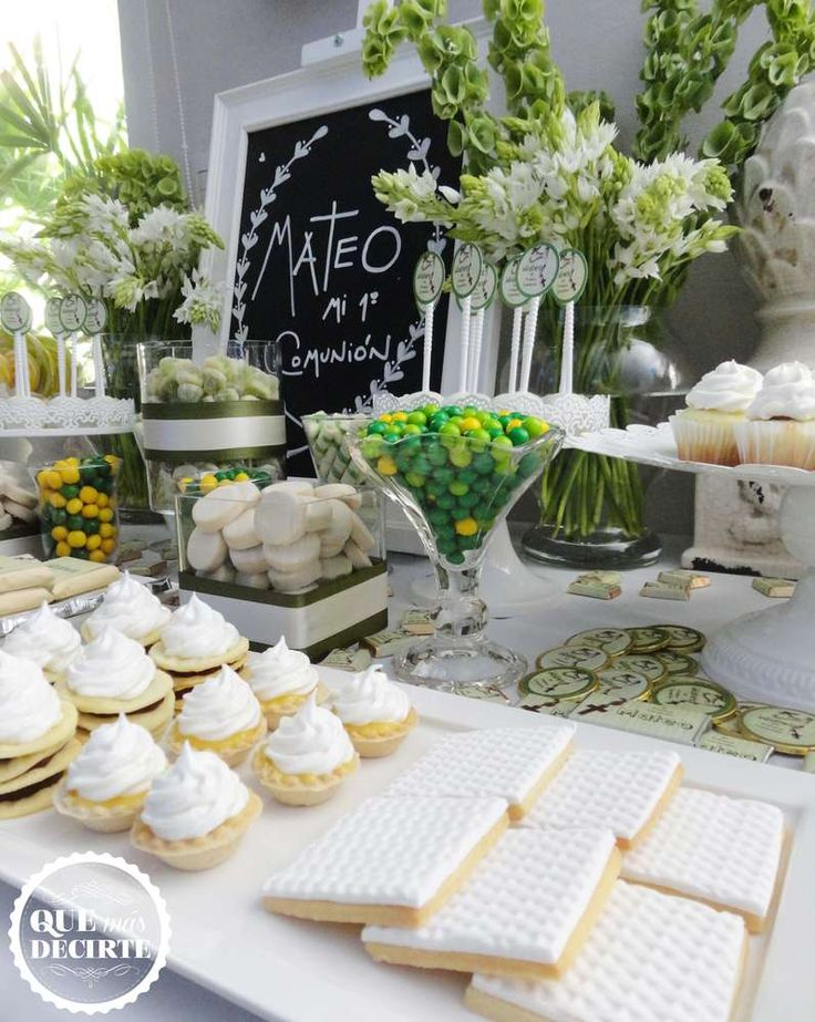 Comunion en verde Comunion Party Ideas | Photo 7 of 25 | Catch My Party