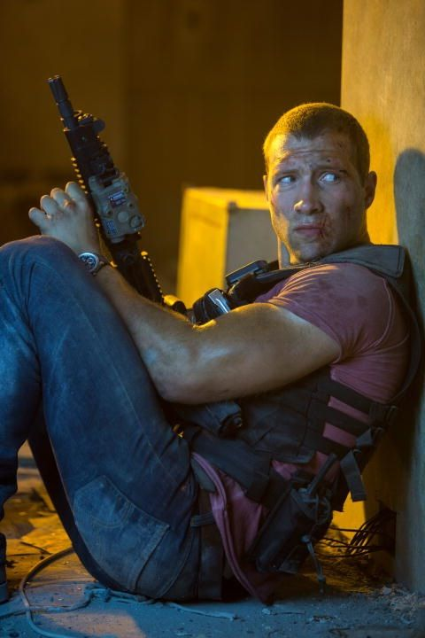 """Jai Courtney """"I kinda thought we would just wing it, you know. Running in, guns blazing! Make it up as we go."""""""
