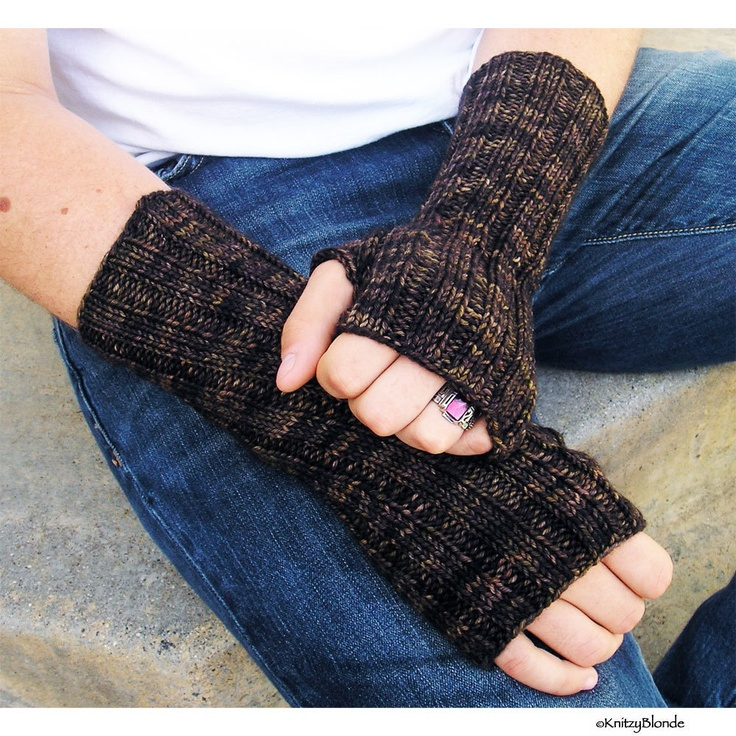 Mens Fingerless Gloves, Hand Arm Warmers, Washable Merino ...