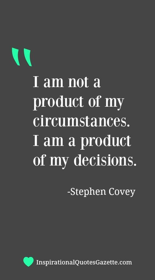 Inspirational Quote about Life and Making Decisions - Visit us at InspirationalQuotesGazette.com for the best inspirational quotes!