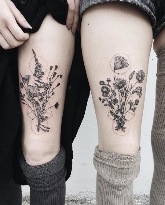 Tattoos and pastel- Kinda huge and in the wrong place but really pretty design idea!