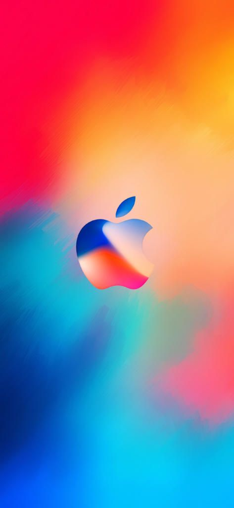 Iphone X Hd Wallpaper Abstract Apple Logo Color Red Blue Awesome