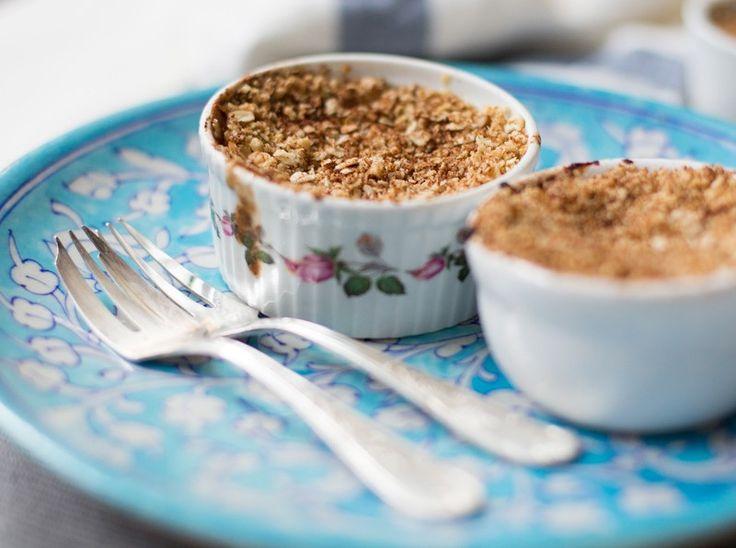 Mini Cinnamon Spiced Apple Crumbles - Madeleine Shaw