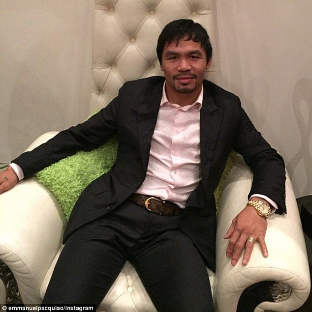 Pacquiao will receive 40 per cent of the purse, which could hit $120m on projected record pay-per-view buys