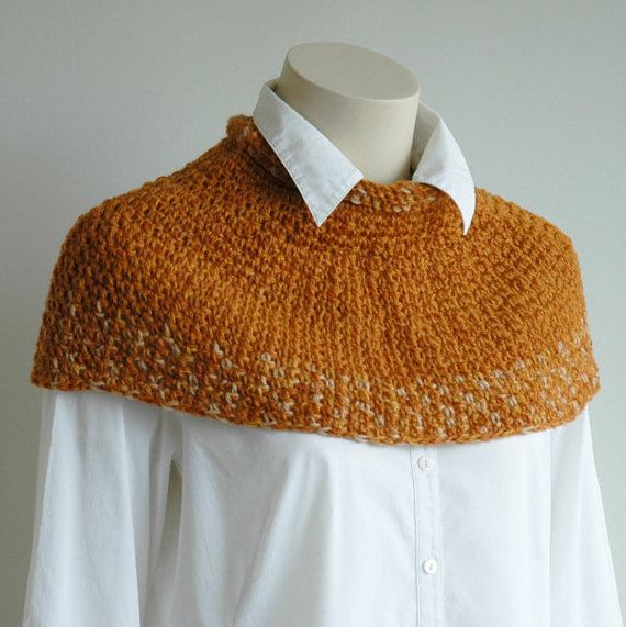 Handspun wool short poncho snug fit by KororaCrafters