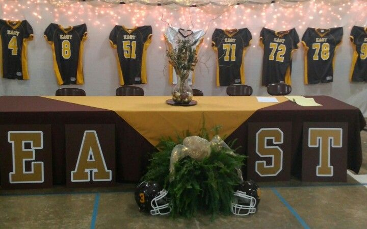Head table for Football banquet