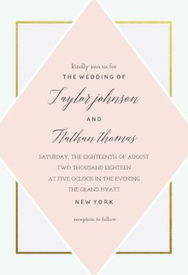 Lozenge printable invitation template. Customize, add text and photos.  Print, download, send online or order printed!