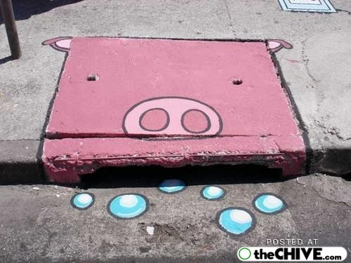 Street Art / Sewer Drain