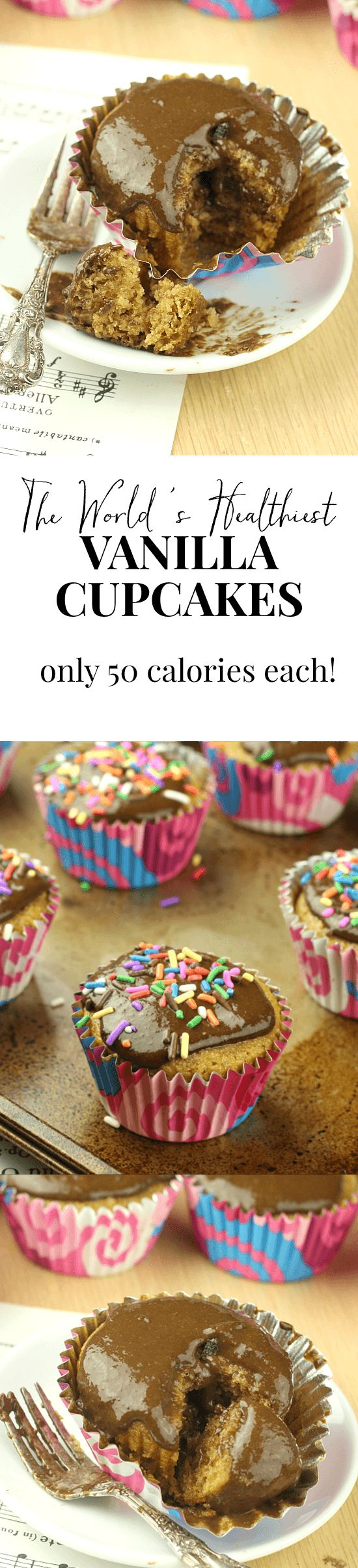 The 50 calories cupcake! Also the last cupcake recipe you'll ever need. They didn't last 5 minutes in my house.